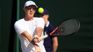 Jamie Murray in action earlier this week.