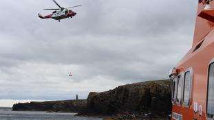 A coastline rescue.