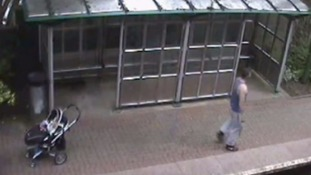 Thief leaves baby alone next to train tracks so he can urinate and then steal bike