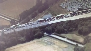 The suspected illegal immigrants brought the M25 to a standstill