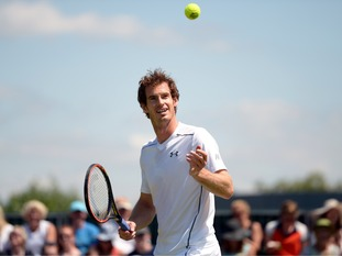 Andy Murray during practice on Thursday.