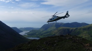 The Pride of Cumbria Air Ambulance was sent to help.