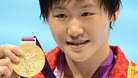 China&#x27;s Shiwen Ye with her gold medal after winning the women&#x27;s 200m individual medley final at the Aquatics Centre on Tuesday.