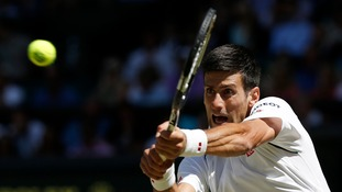 Reigning champion Novak Djokovic beats Richard Gasquet in straight sets to reach Wimbledon final