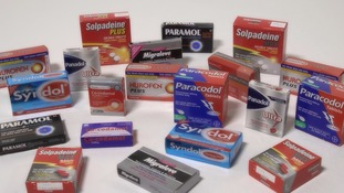 packets of painkillers