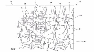 The patent shows the design of the seats