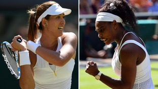 Gabrine Muguruza and Serena Williams