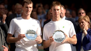 Jamie Murray (left) and John Peers with their runners'-up trophy