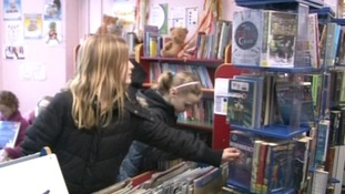 Children in a Suffolk library
