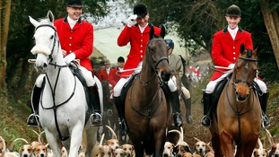 Members of the Old Surrey Burstow and West Kent Hunt