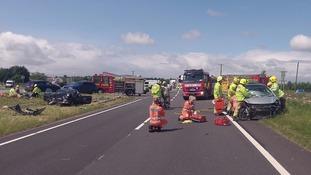 Crash on A66