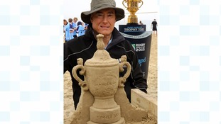 Webb Ellis in sand