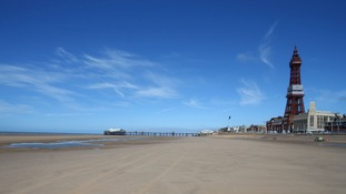 A general view of the beach at Blackpool