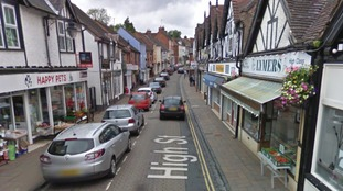 An area around the High Street in Droitwich, Worcestershire, was sealed off.