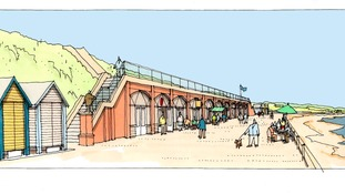 How the existing brick shelter on Northern prom could look.