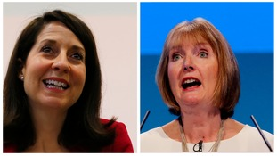 Labout leadership candidates Liz Kendall and Harriet Harman