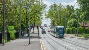 Tram testing through Clifton earlier this year