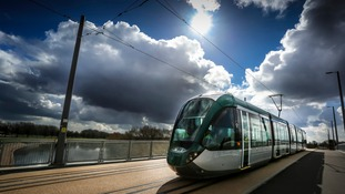 One of Nottingham's new Phase Two trams
