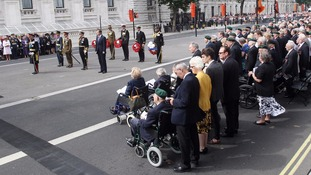 Veterans at the Cenotaph to mark 65th anniversary of VJ Day in 2010