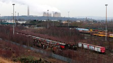 General view of Toton sidings.