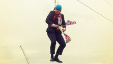 Boris Johnson had to be pulled the rest of the way by ground teams in Hackney.