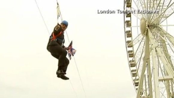 ITV London Tonight capture the moment Boris got stuck