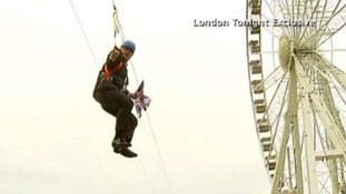 ITV London Tonight capture the moment Boris got stuck