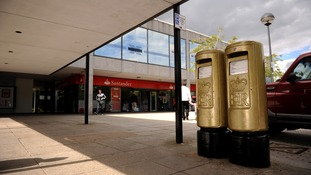 gold post boxes
