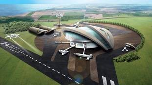 Artist's impression of spaceport.