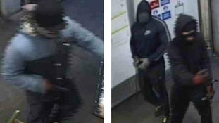 Police want to speak to three men about an armed robbery in Oldham
