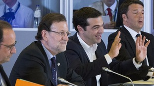 Mariano Rajoy and Alexis Tsipras in talks earlier this month.