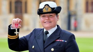 Navy Officer awarded MBE for giving aid to Philippines