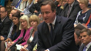David Cameron in the Commons today