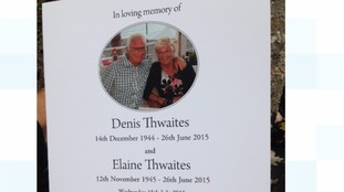 Order of funeral service of Denis and Elaine Thwaites