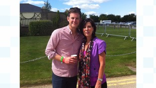 ITV Tyne Tees presenter Pam Royle with Matt Baker