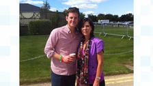 ITV Tyne Tees presenter Pam Royle with Matt Baker
