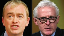 Tim Farron (left) and Norman Lamb.