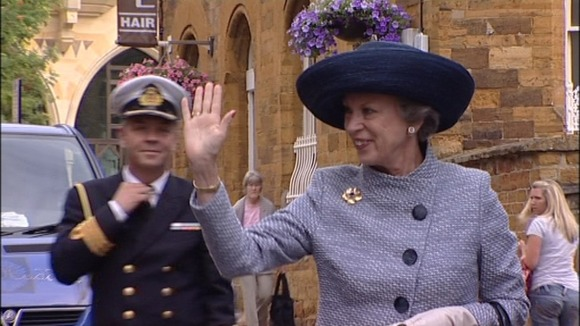 Princess Benedikte of Denmark visiting Northampton