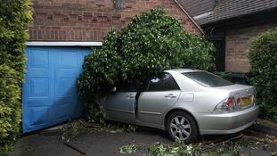 A Loughborough couple were woken up when a car crashed into their home