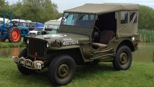 The rare 1944 Willys Jeep stolen from the Imperial War Museum in Duxford.