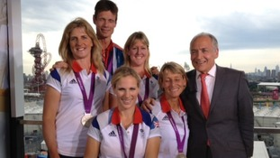 Alastair Stewart with the eventing team