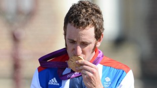 Bradley kissing medal
