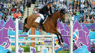 Mary King on Imperial Cavalier during the Team Eventing Jumping Final