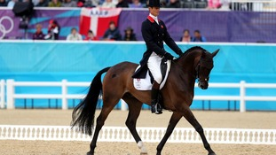 William Fox-Pitt riding Lionheart during the Dressage