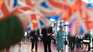 The Queen and Duke of Edinburgh in east London