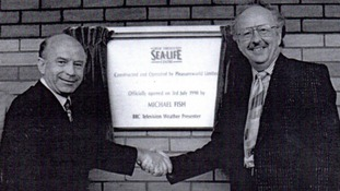The official opening of the Great Yarmouth Sealife Centre in 1990.