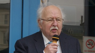 Former TV weatherman Michael Fish at the Great Yarmouth Sealife Centre.