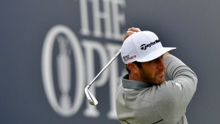 Big-hitting Dustin Johnson leads the way on opening day of Open
