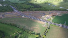 A new £30m junction on the M1 near Luton is to cut congestion and boost Bedfordshire's economy.