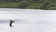 man fishing on the tweed